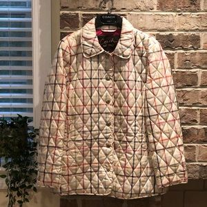 Coach multicolored patterned coat